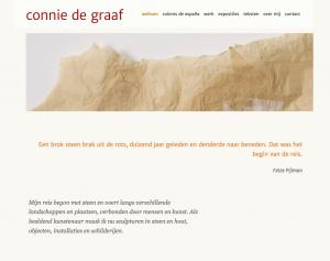 schermafbeelding van website van connie de graaf
